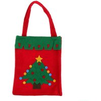 1PC Christmas Bags Non-woven Snowman Santa Claus Sack Kids Candy Gift Bags Christmas Decoration for Home