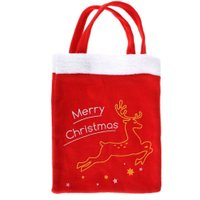 1pc Christmas gift bags candy bags book bags Christmas gift candy bags  Handmade Christmas supplies