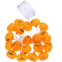 2.5m 20 LED Pumpkin Halloween String Lighting Holiday Party Decoration Kids Halloween Gift String Lamp