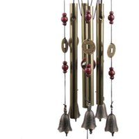 Living Room Wind Chimes  Outdoor Yard Garden 4 Tubes Copper Bell Wind Chime Hanging Decoration Home Window DecorGift