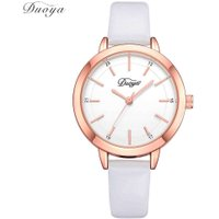 Women PU Leather Watchband Quartz Compact Round Casual Sports Watch Gift